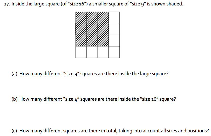 Counting Squares