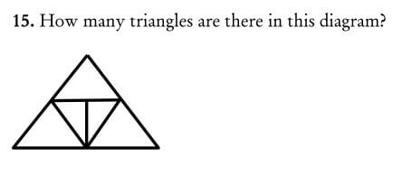 How many triangles are there in this diagram question
