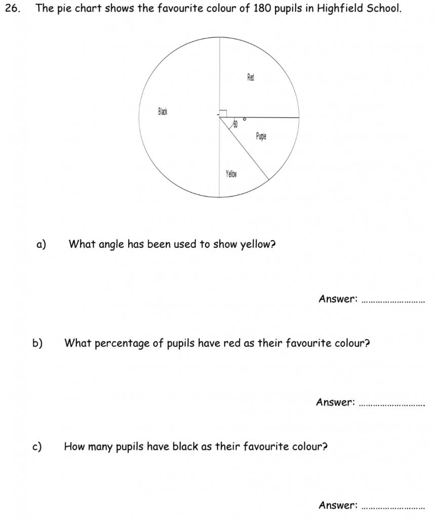 Pie Chart Percentages Geometry