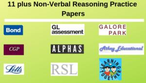 11 plus Non-Verbal Reasoning Practice Papers