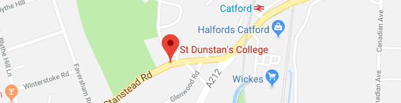 St Dunstan's College_map