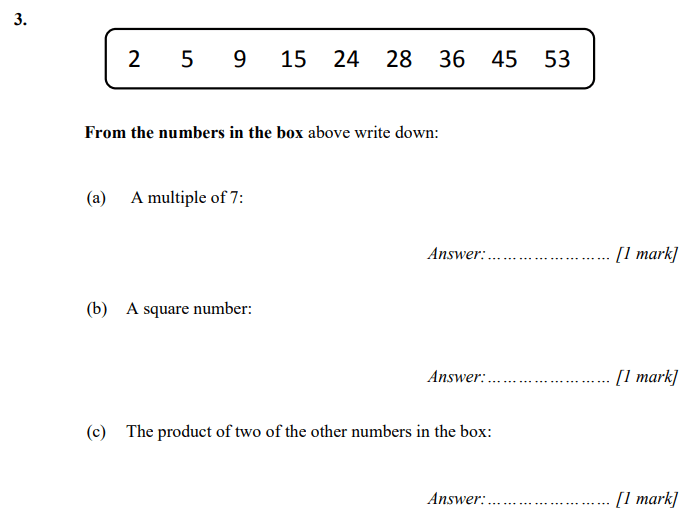 Multiples, Square Numbers, Multiplication