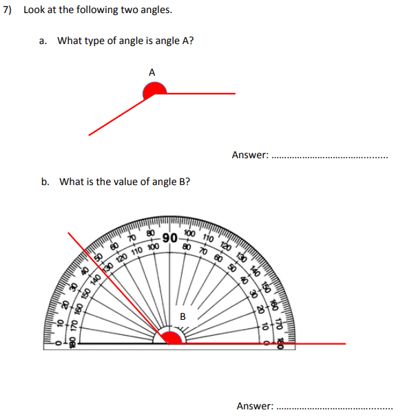 Angles and Scale reading