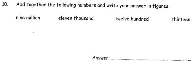 Read and Write Numbers and Addition