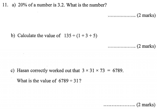 Percentages and Division