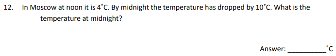 Temperature and Subtraction