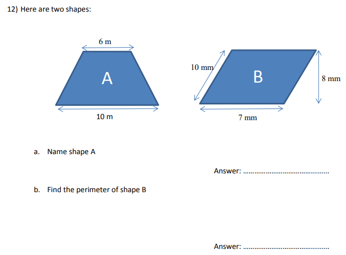 Perimeter and Shapes