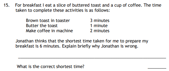 Shortest time and Logical Questions