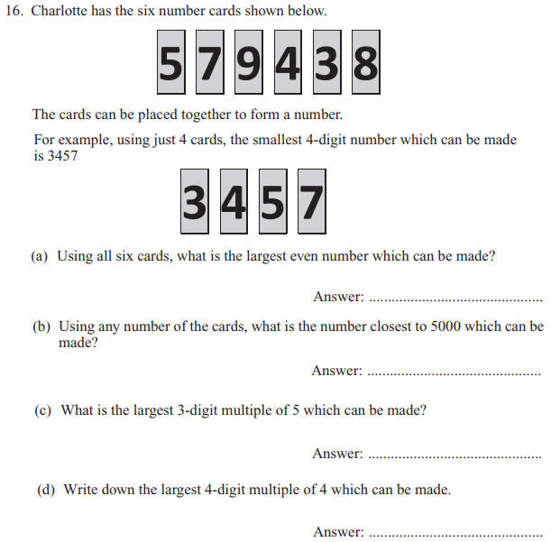 Place value, Multiples and Division