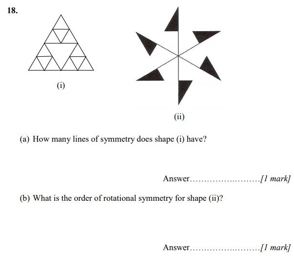 Line Symmetry and Rotational Symmetry