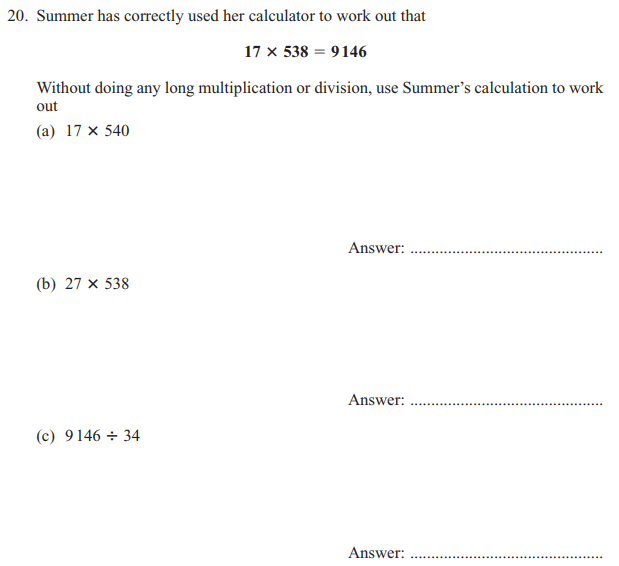 Multiplication, Division and Logical Questions