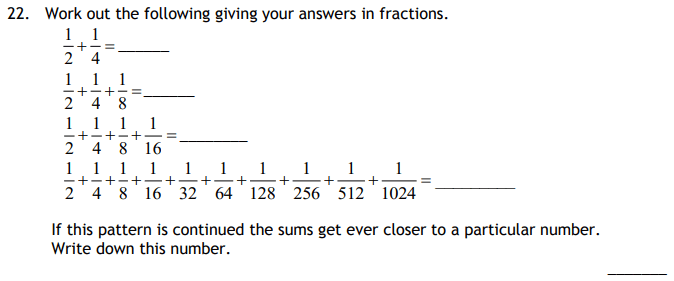 Fractions and Number Patterns & Sequences