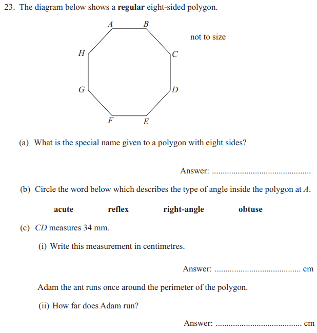 Polygon,Perimeter and Unit conversions