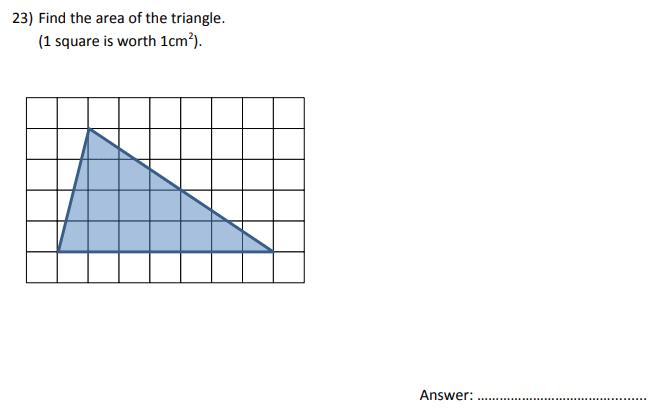 Area and Triangle