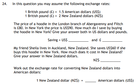 Unit Conversions and Money