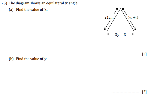 Triangle and Linear Equations