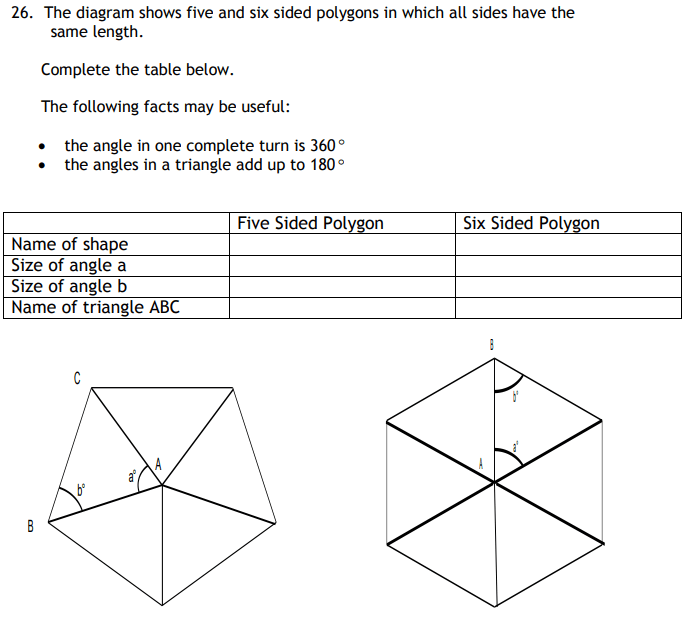 Polygon, Angles and Triangles