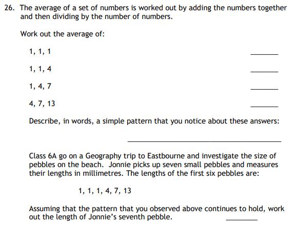 Mean Median Mode Range and Number Patterns & Sequences