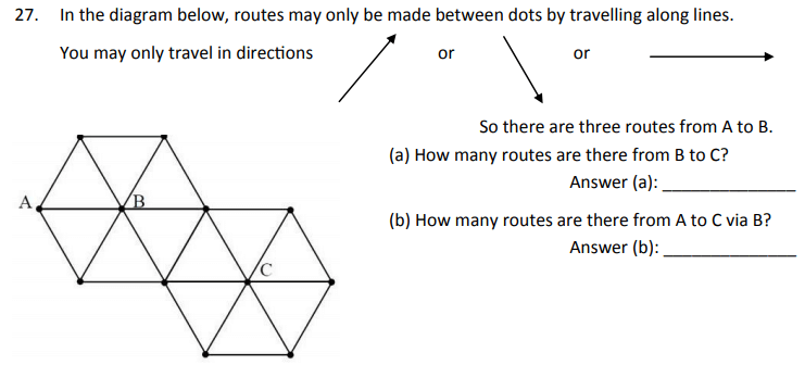 Permutation & Combinations, Directions and Counting