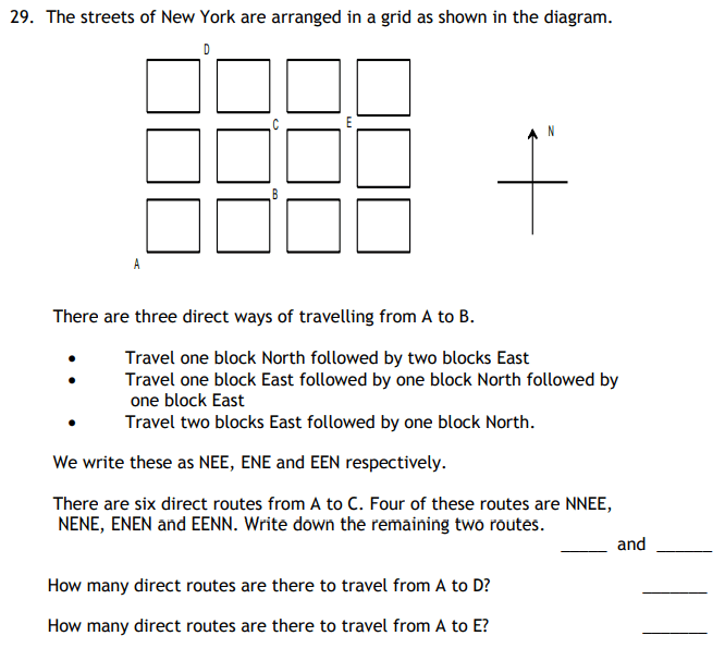 Permutation & Combinations and Directions