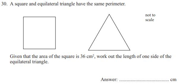 Square, Triangle and Area and perimeter