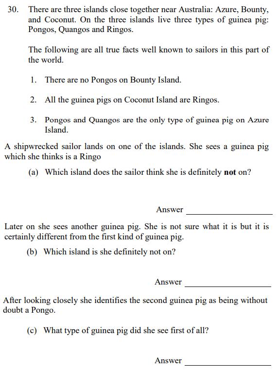 Logical Questions