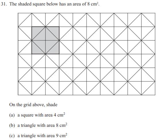 Area. Triangle and Square