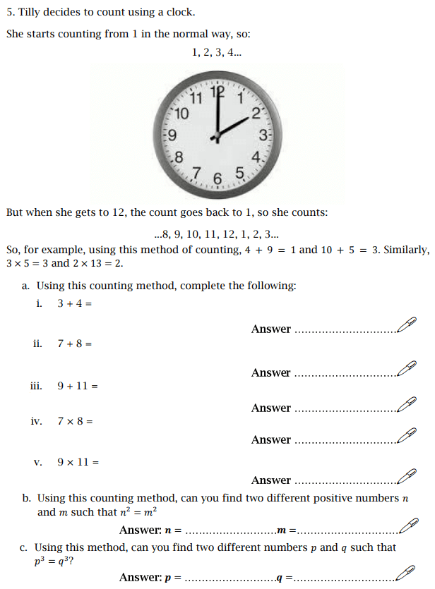 Logical Questions, Time, Multiples, Numbers