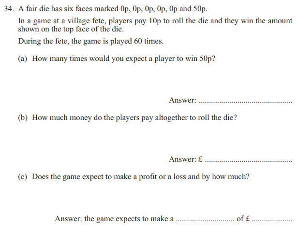Probability, Profit and loss, Money and Currency Conversions