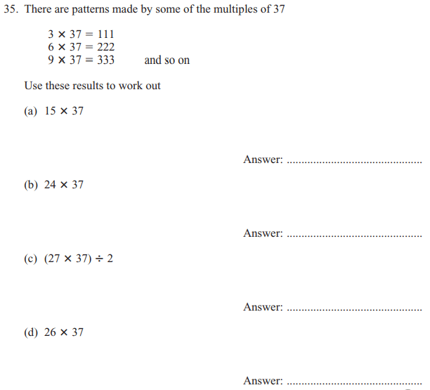 Addition, Subtraction, Multiplication, Division and Logical Questions