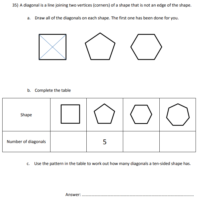 Polygon and Patterns and Sequences