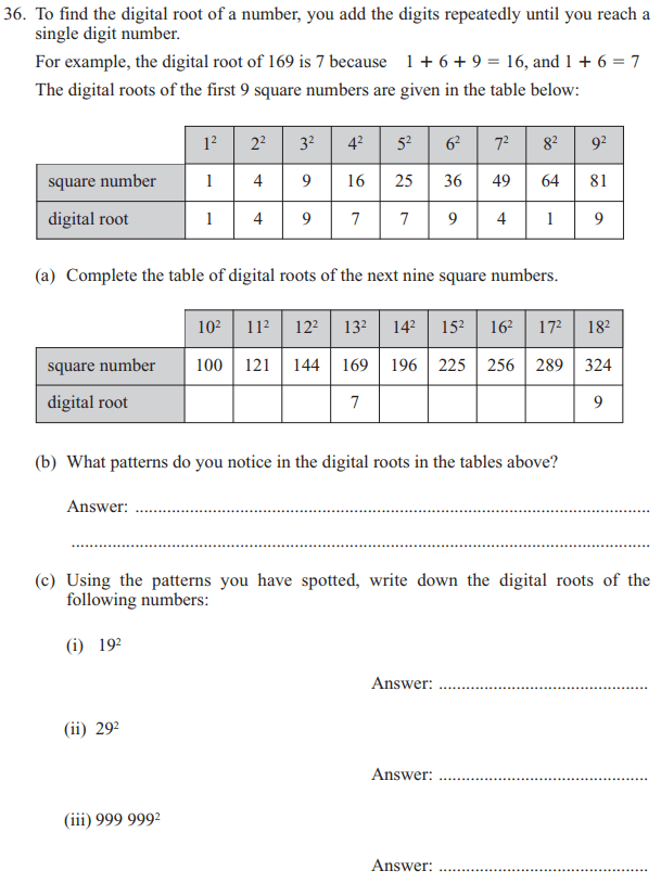 Number Patterns & Sequences, Division and Logical Questions