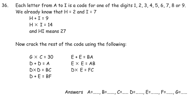 Logical Questions and Numbers