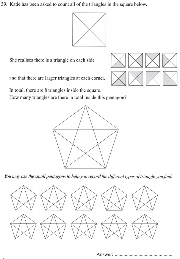 Counting, Triangle and Polygon