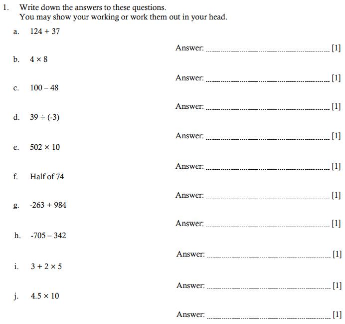 Addition, Subtraction, Multiplication, Division, BIDMAS and Decimal manipulation