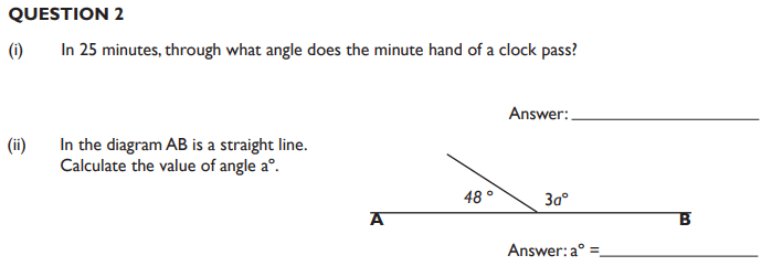 Time, Angles, Rectangle, Square, Area and Perimeter and factors