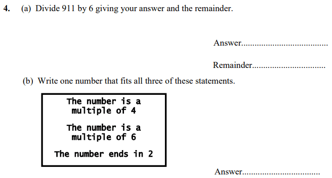 Division and Multiples