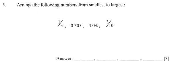 Order and Compare Numbers, Numbers