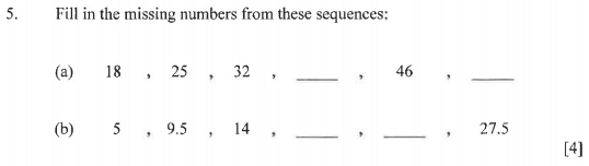 Number Patterns & Sequences