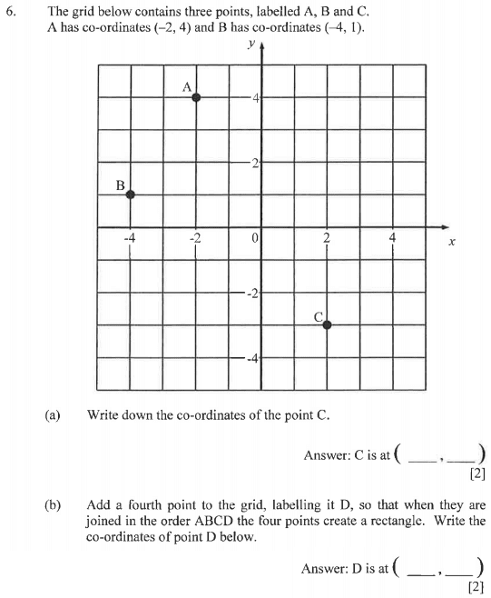 coordinates and rectangle