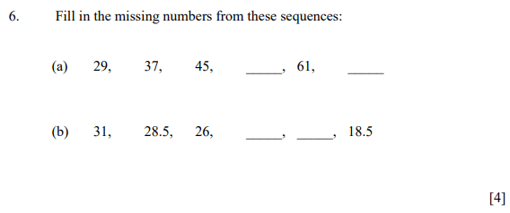 Number Patterns & Sequences and Decimals
