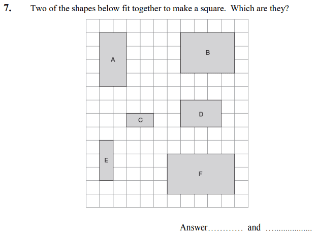 2D shapes, Square, Rectangle and Logical Problems