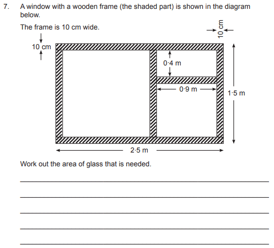 Area and Perimeter, Compound shapes, Rectangle and Square