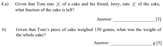 Fraction and Word Problems