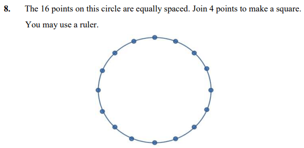 Circle, Square, Scale drawings and Logical Problems