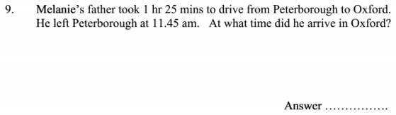 Time and Word Problems