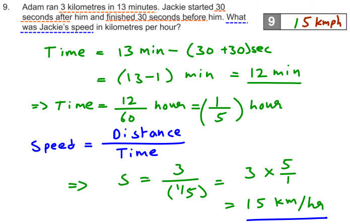 Word Problems, Unit Conversions and Speed time distance