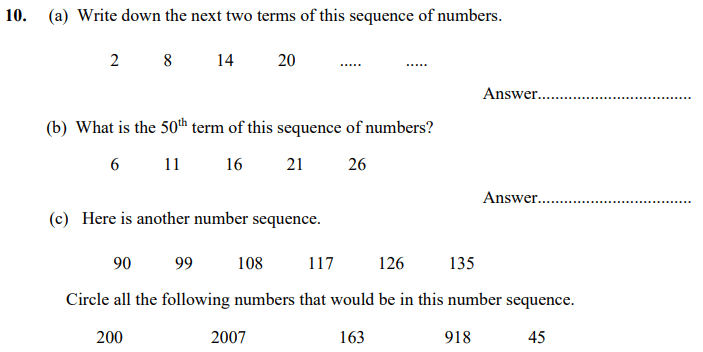 Multiples and Number Patterns & Sequences