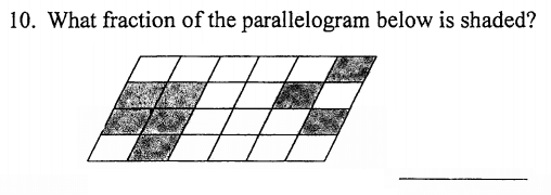 Fractions and Parallelogram