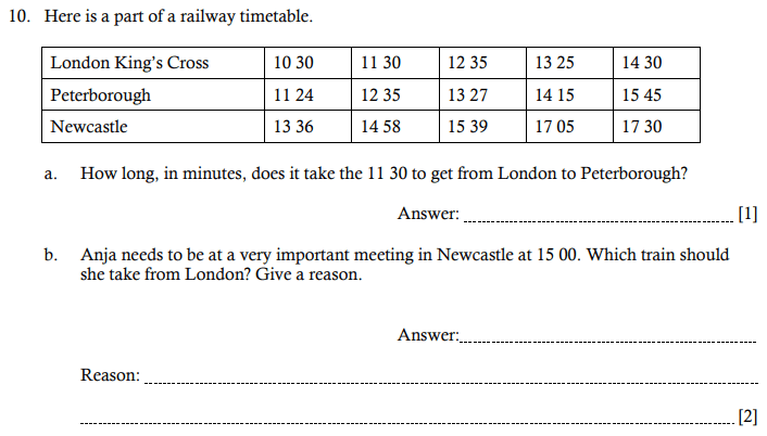 Time table, Unit Conversions, Time, Logical Problems and Word Problems,